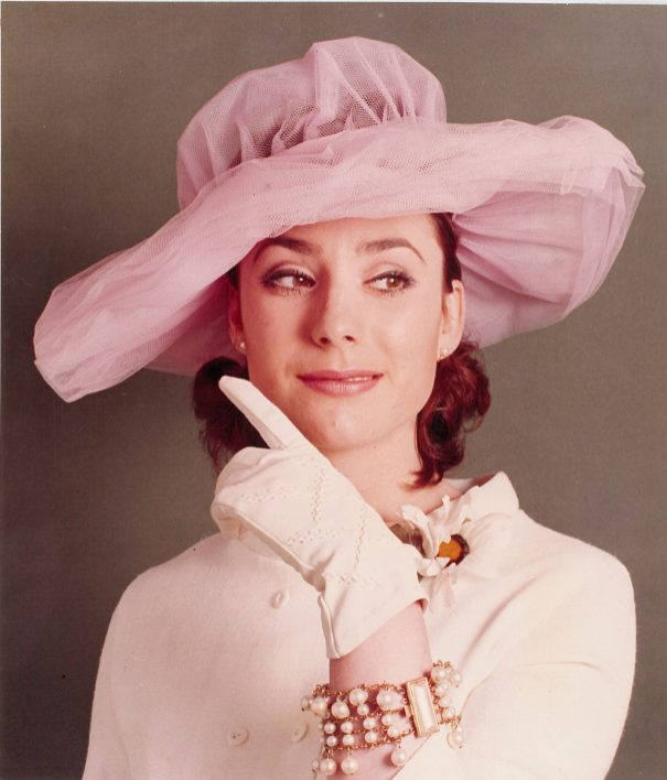 Rosemarie Cockayne modelling fashion accessories in the early 1970s