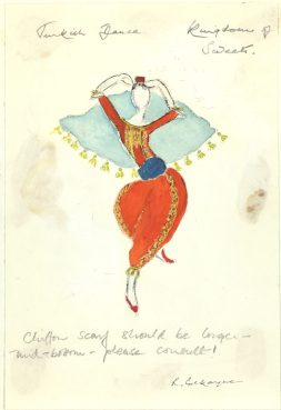 Costume designed by Rosemarie Cockayne for the female Turkish dancers in Act II of The Nutcracker, 1982