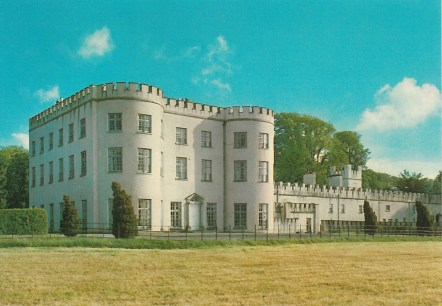 Postcard depicting Glin Castle from the South
