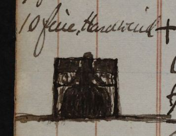 P1/22, page 12: a lady playing the harmonium at church