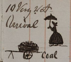 P1/22, page 39: a visit from Lady Ridesdale, and a delivery of coal
