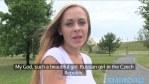 Etudiante russe en vacances baise contre de l'argent