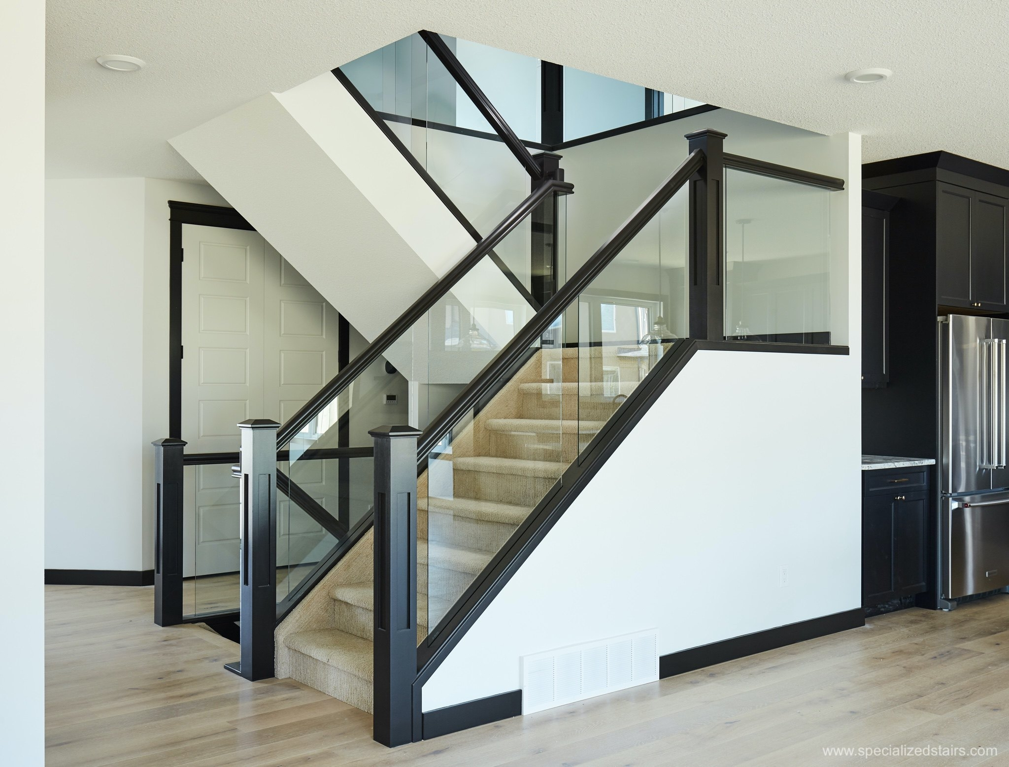 5 Things You Need To Know About Glass Railing Specialized Stair   Glass Panel Stair Railing   Toughened   Square   Framed Glass   Staircase   Banister