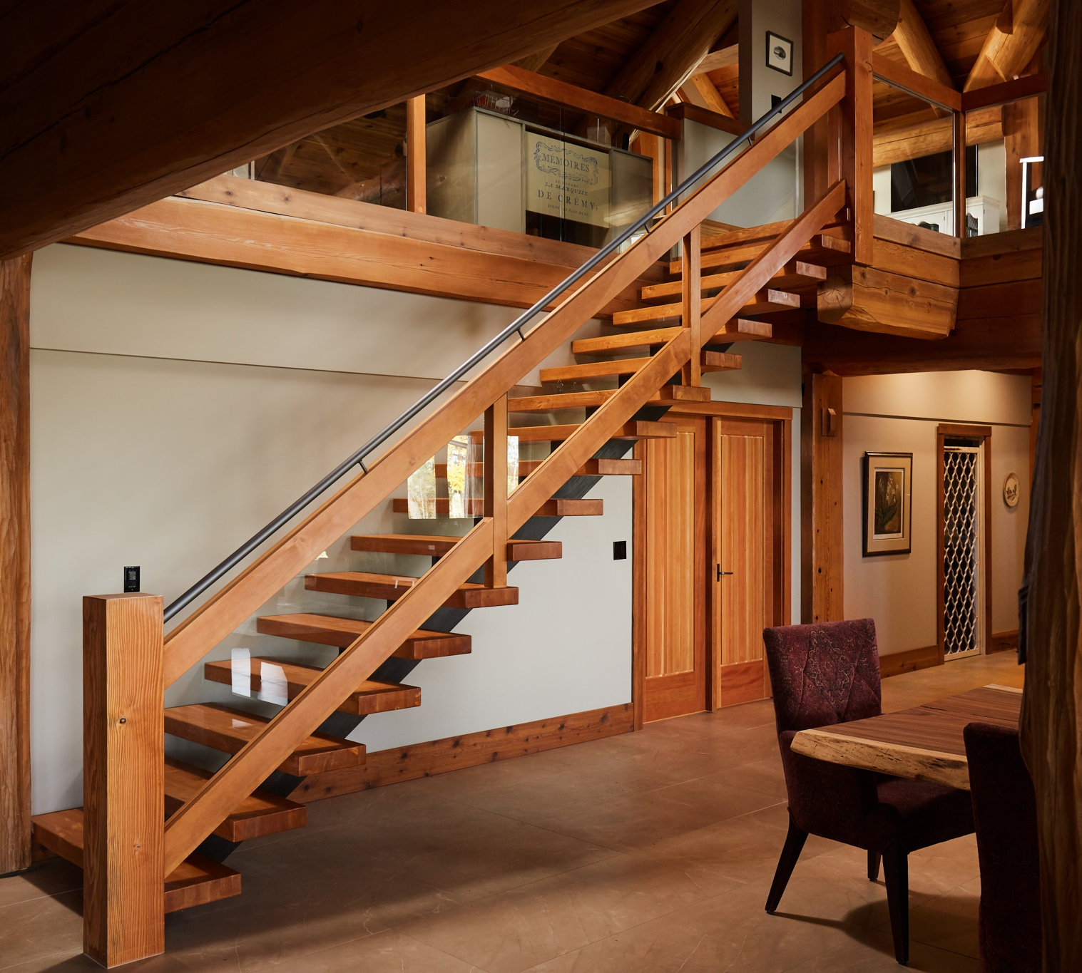 Rustic Oak And Fir Specialized Stair Rail   Rustic Banisters And Railings   Industrial   Unusual   Balcony   Custom   Barn Style
