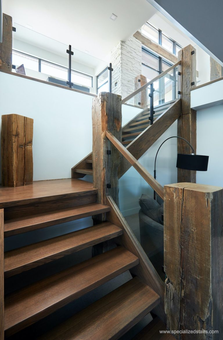 Rustic Modern Staircase Specialized Stair Amp Rail