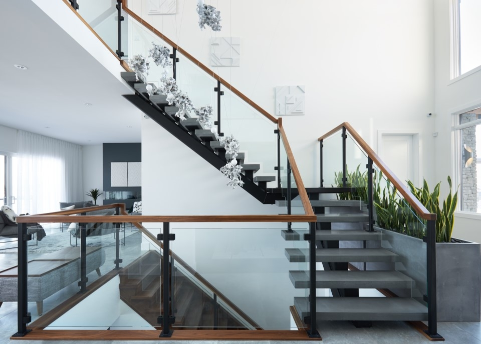 Top 10 Modern Glass Railing Inspirations Specialized Stair Rail | Curved Glass Stair Railing | Residential Glass | Commercial Glass | Band Glass | Walnut | Frameless Glass