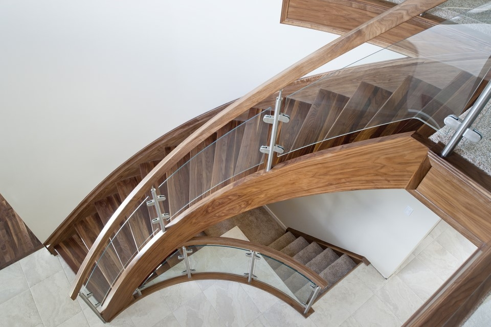 Top 10 Modern Glass Railing Inspirations Specialized Stair Rail   Staircase Wood And Glass   Commercial Wood   New   Ash Wood   Simple Glass   Glass Bal