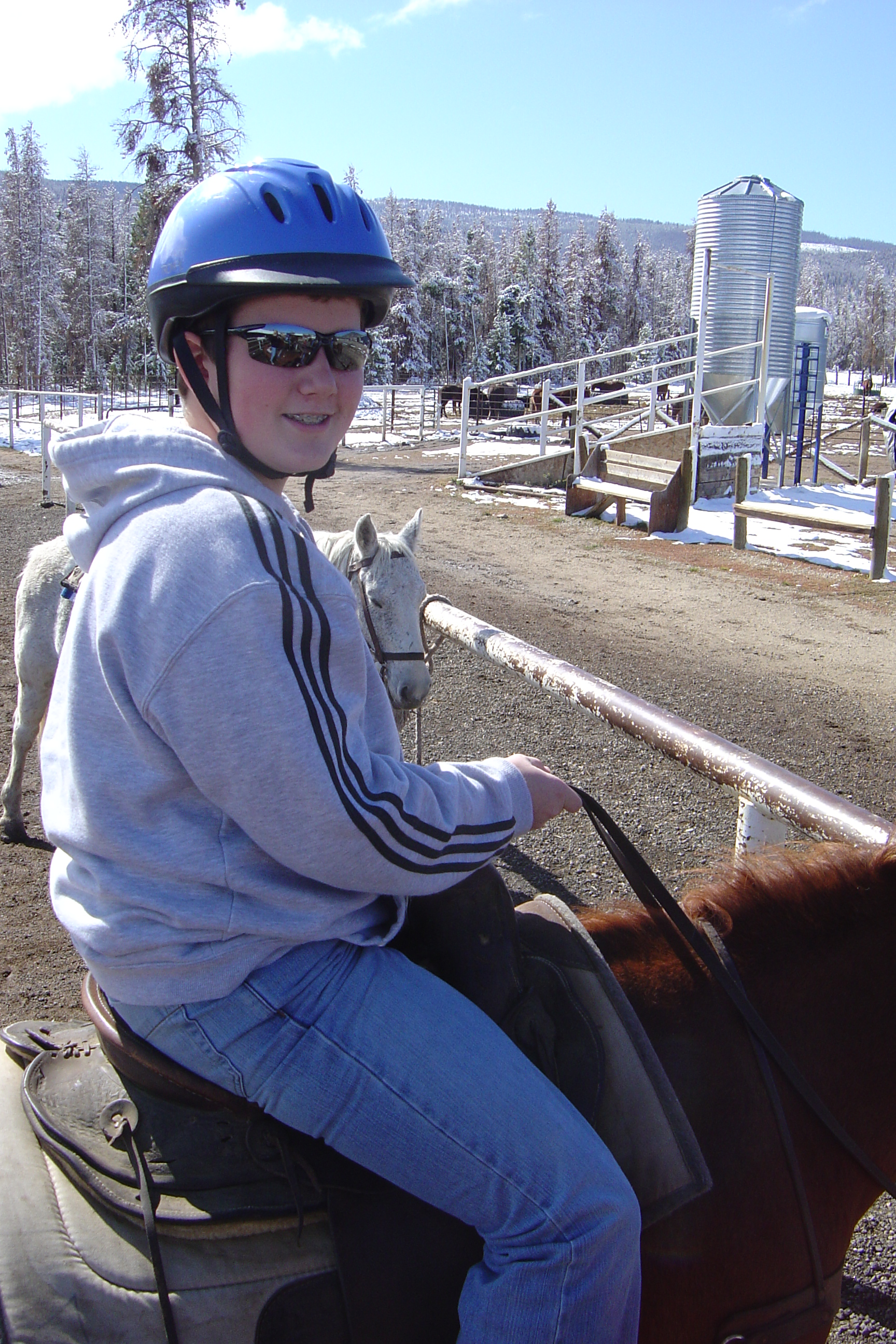 Matthew's horse was named Footloose and he pooped a LOT!