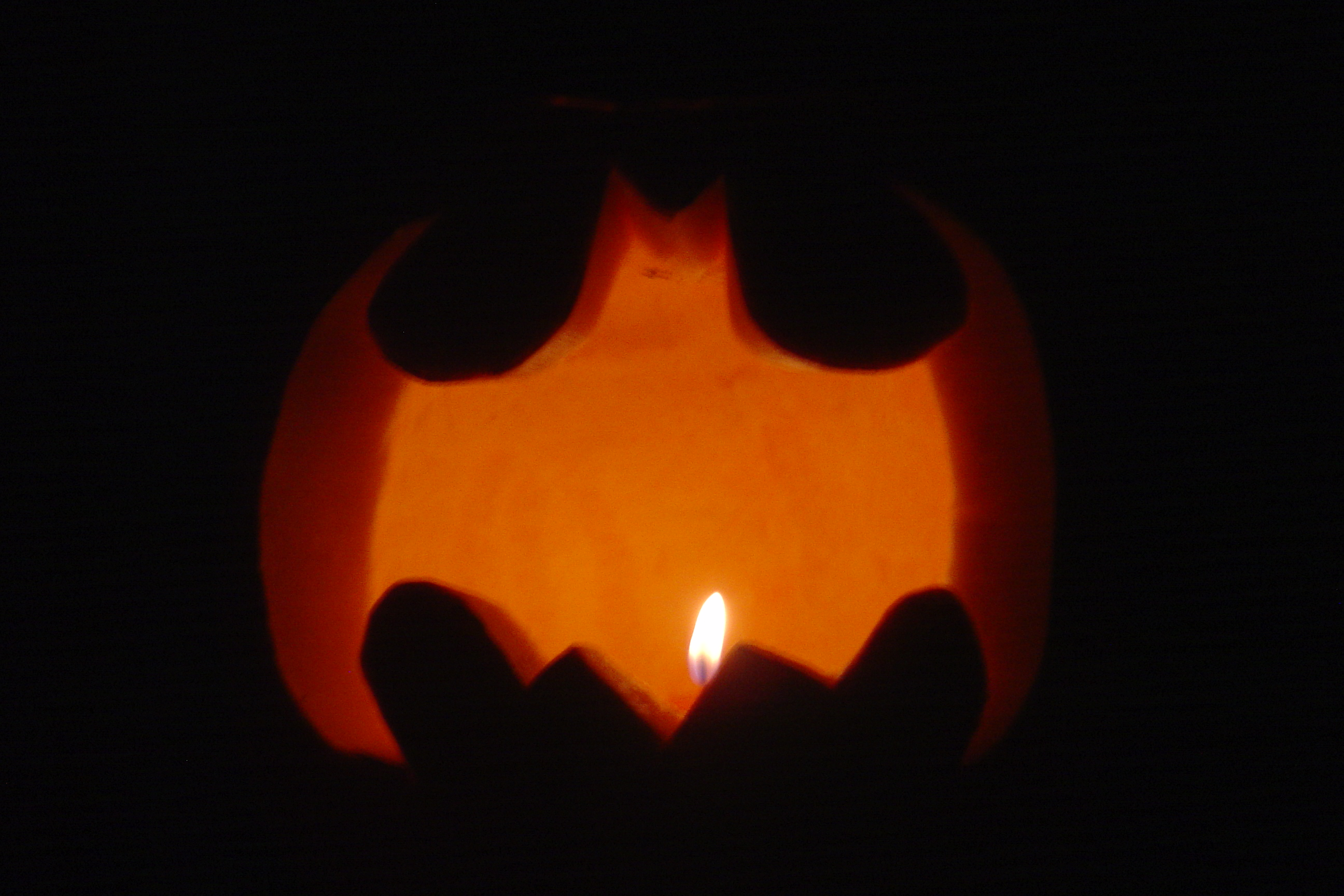 Paul and Carrie's pumpkin (they did theirs freehand and it turned out well!)