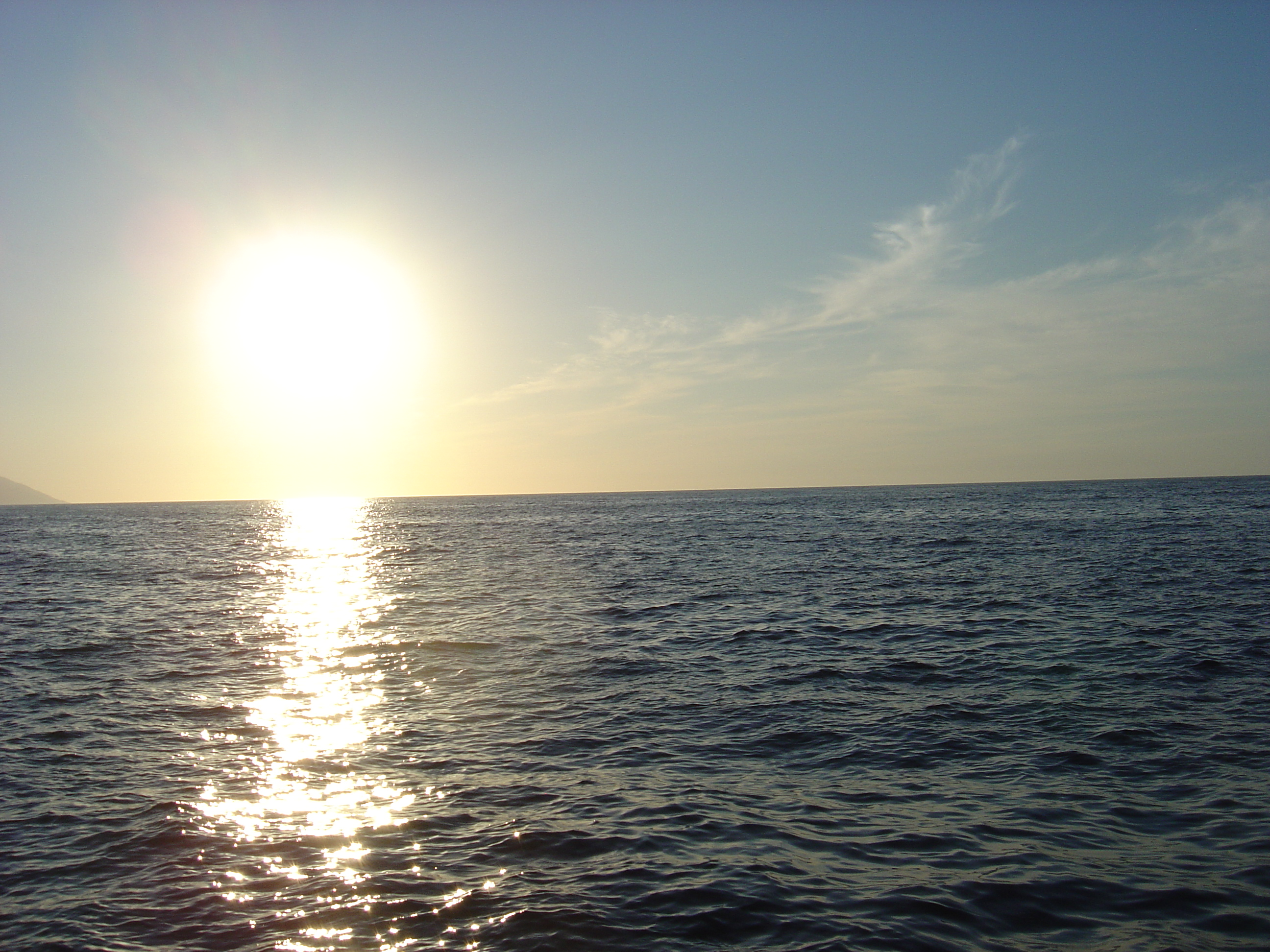 Sun over the water