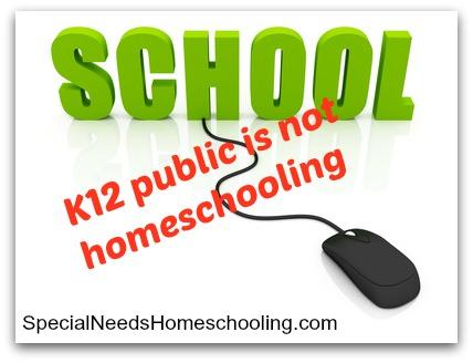 K-12 public is not homeschooling - Special Needs Homeschooling