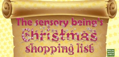 A sensory being's Christmas wish list