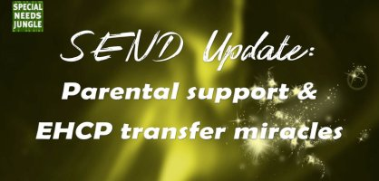 SEND update: Parental support and EHCP transfer miracles
