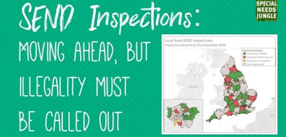 SEND Inspections: Moving ahead but illegality must be called out
