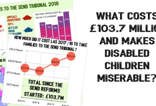 What costs £103.7 million and makes disabled children miserable?
