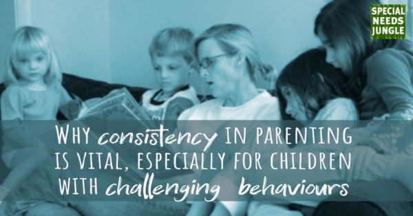 Family reading with words: Why consistency in parenting is vital, especially for children with challenging behaviours