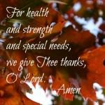 A Special Needs Thanksgiving Prayer