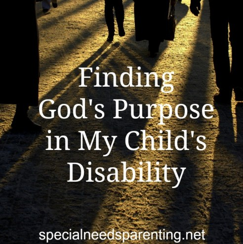 God's purpose in disability