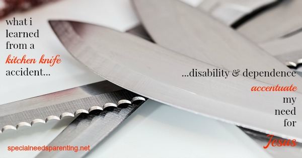 Since severing the tendon in my thumb with a kitchen knife, I learned several unforgettable lessons about life with a disability.