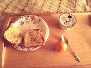 A simple breakfast is a profound thing when delivered by a child.