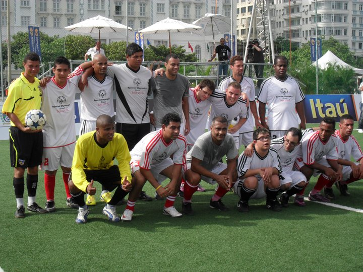 A Special Olympics no maior evento de futebol do mundo