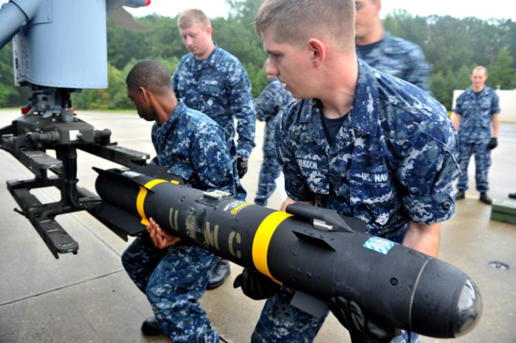 Loading a missile