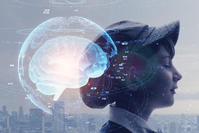 AI (Artificial Intelligence) concept. Education concept.