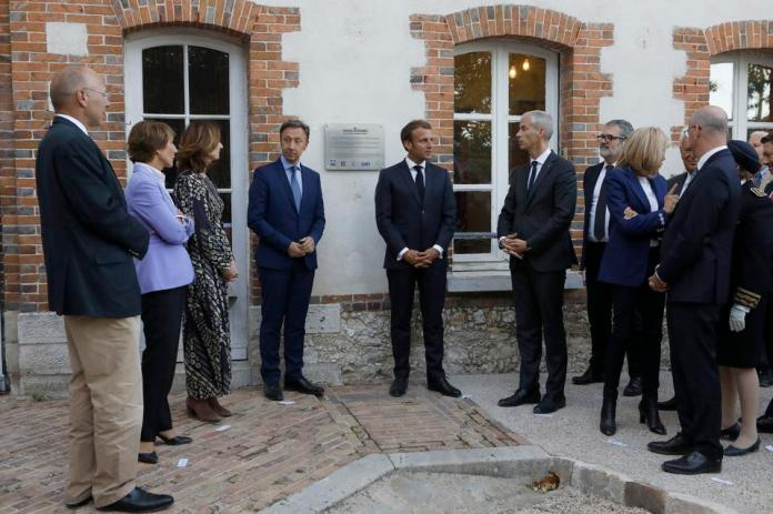 Emmanuel and Brigitte Macron launch Heritage Days at Home Studio by Rosa Bonheur