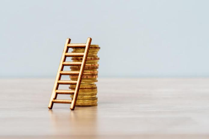 Ladder on Stack of Coins