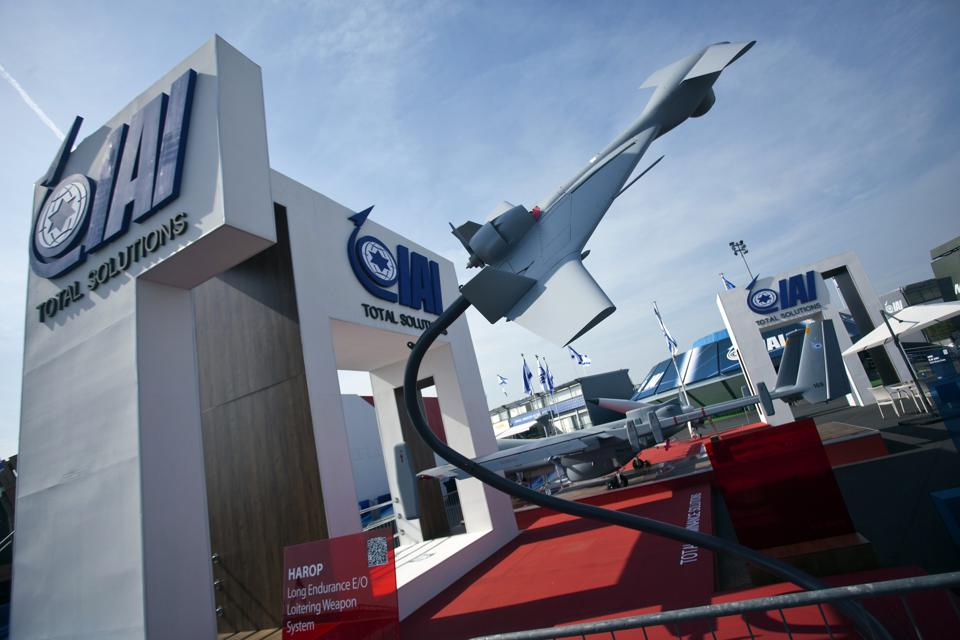 Drones On Display At The 50th Paris International Air Show