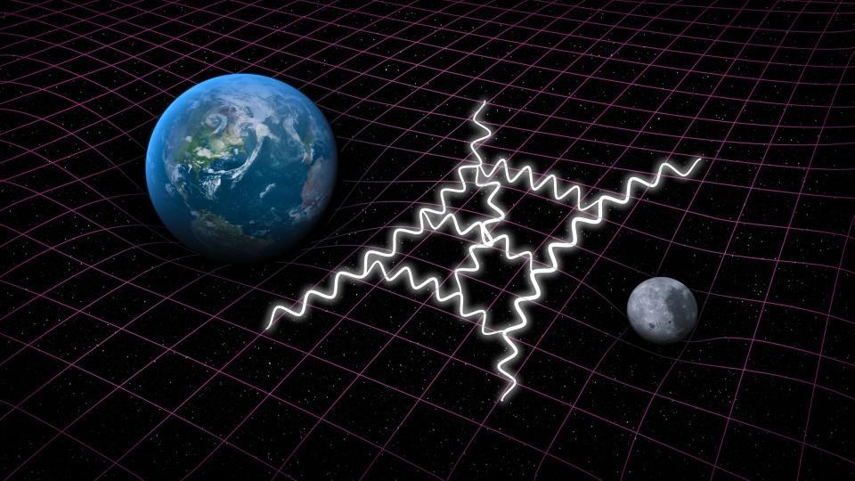 Quantum gravity tries to combine Einstein's general relativity with quantum mechanics.