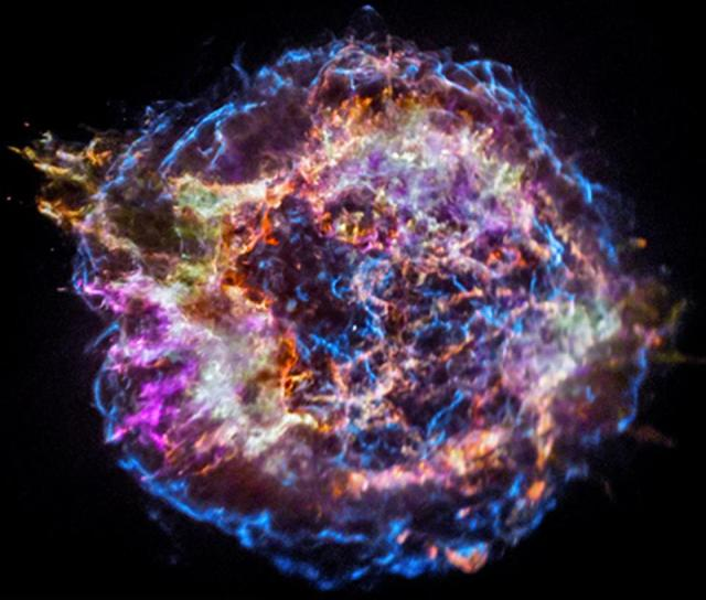 The supernova remnant Cassiopeia A contains signatures of a wide variety of elements.