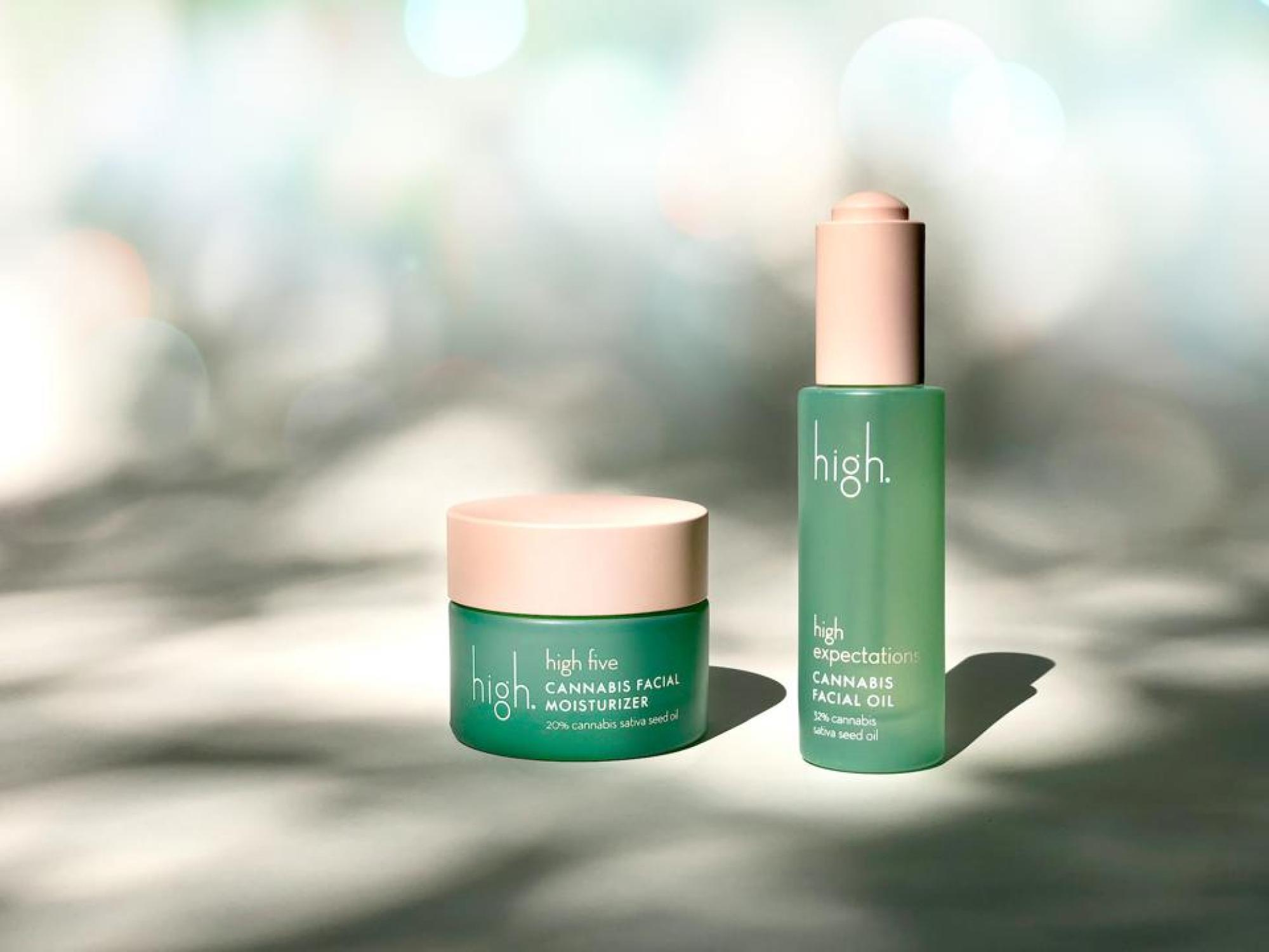 THC for VIPs: High Beauty's facial moisturizer ($40) and oil ($54) both contain 20% cannabis sativa seed oil.