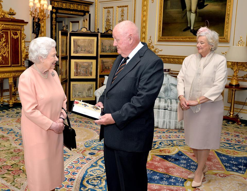 John Mars with Queen Elizabeth II