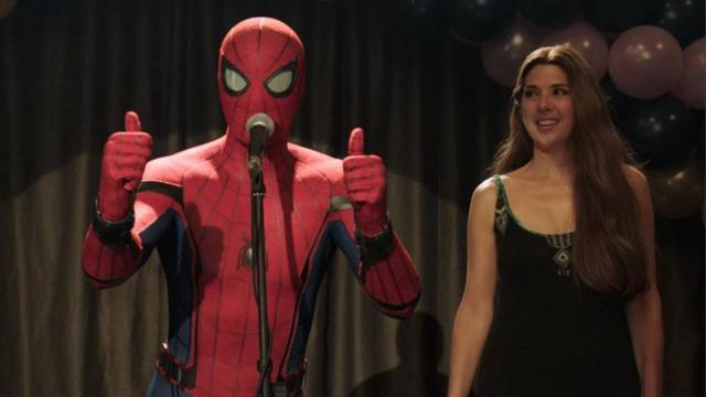 Tom Holland and Marissa Tomei in 'Spider-Man: Far From Home'