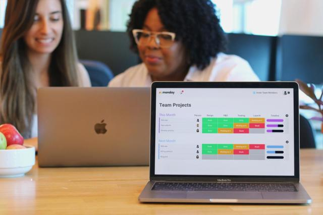 Monday.com's software helps track individual tasks and assignments for work projects.