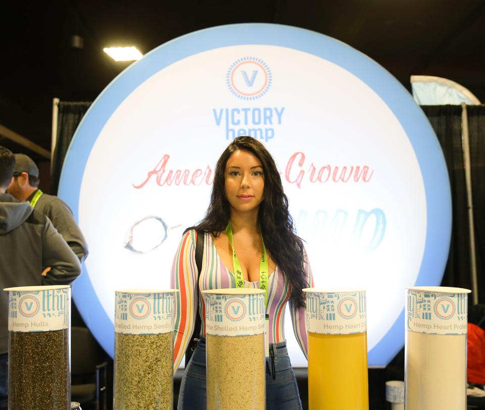 Cait Curley at NoCo Hemp Expo in Denver, an event that attracted 10,000 people.