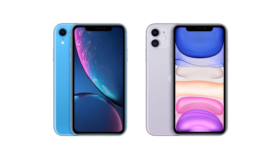 iPhone XR left, iPhone 11 right