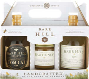 A gift set of Barr Hill Gin and honey