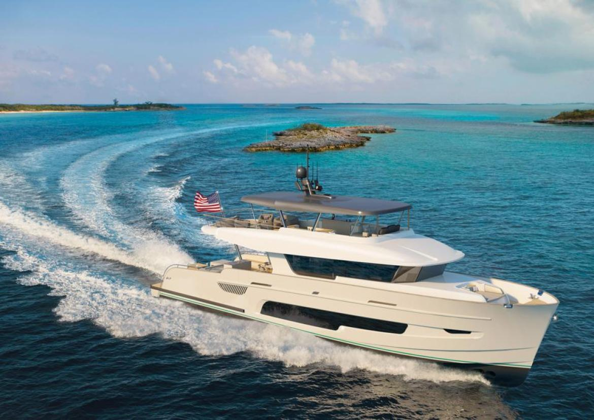 The LeVen 90 is designed to thrive in the shallow waters of the Bahamas.