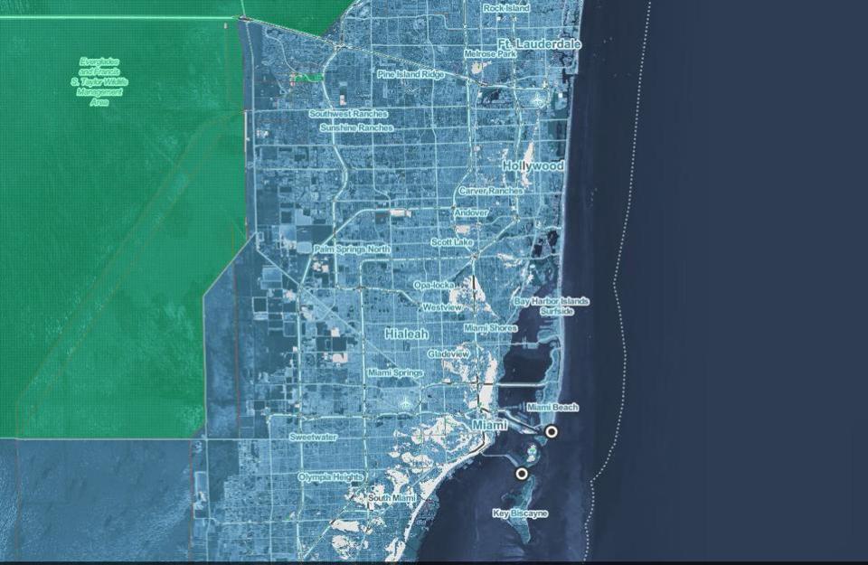Miami Beach under water