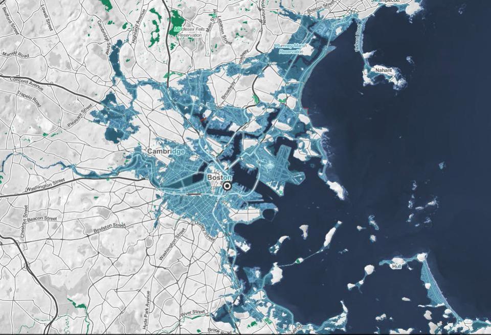 Boston under water