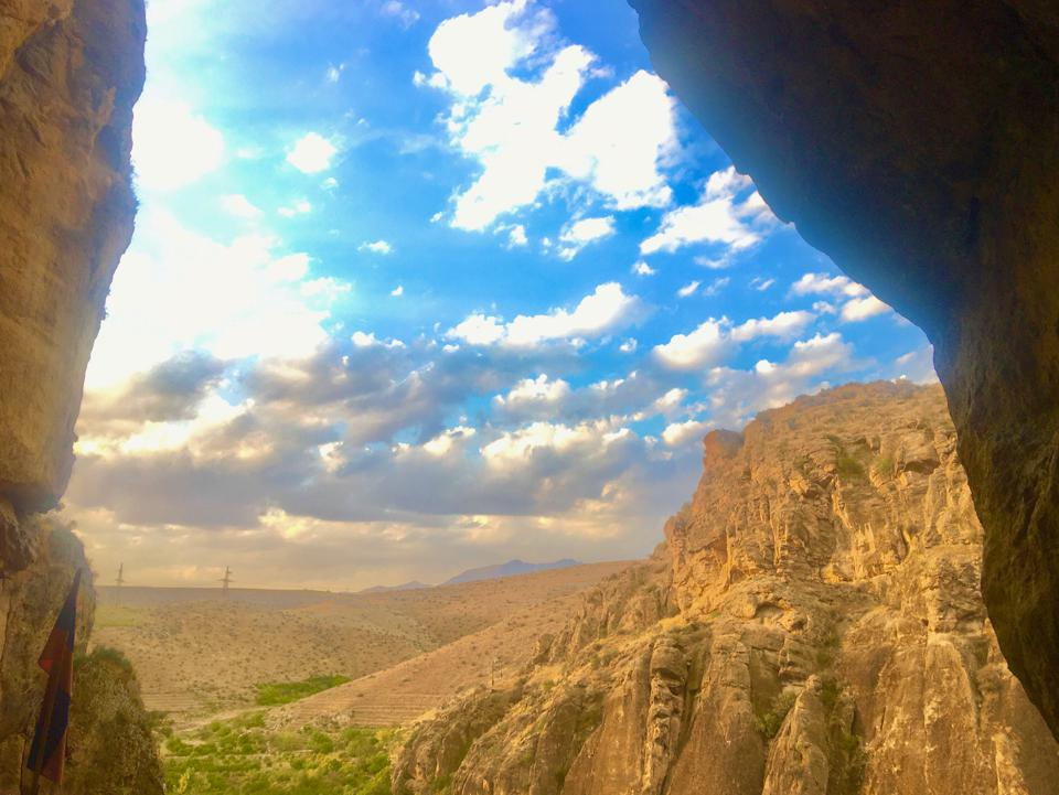 View outward from the Areni-1 cave complex