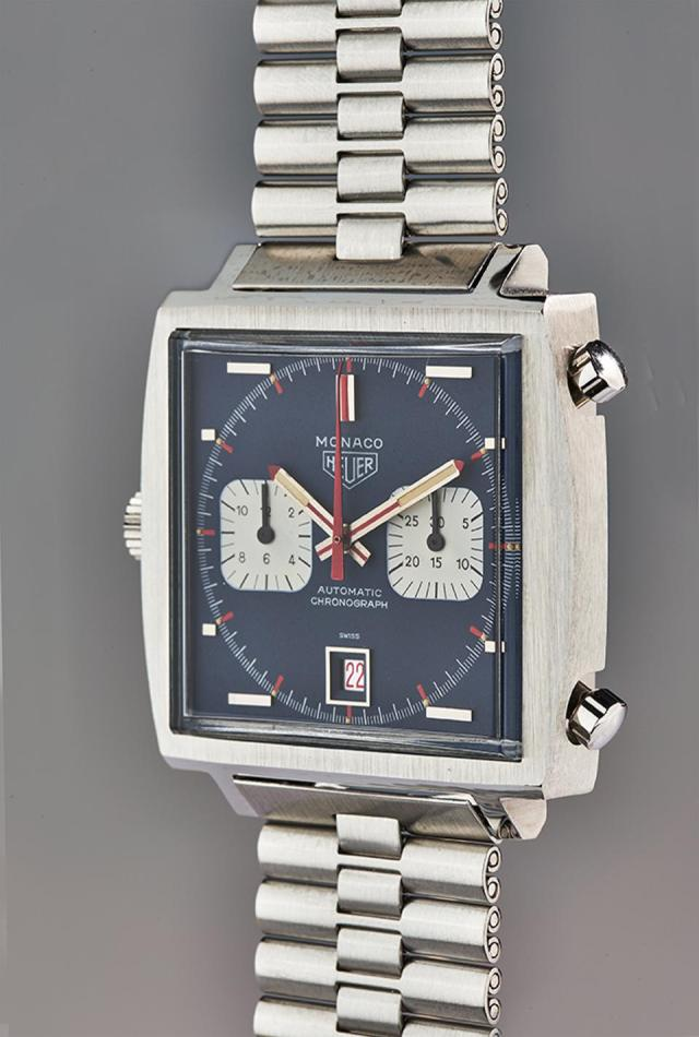 The TAG Heuer Piece d'Art, a unique stainless steel chronograph.
