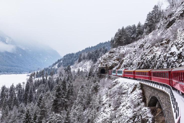 La Suisse en train