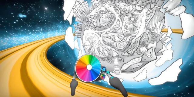 Color Space is a VR coloring book
