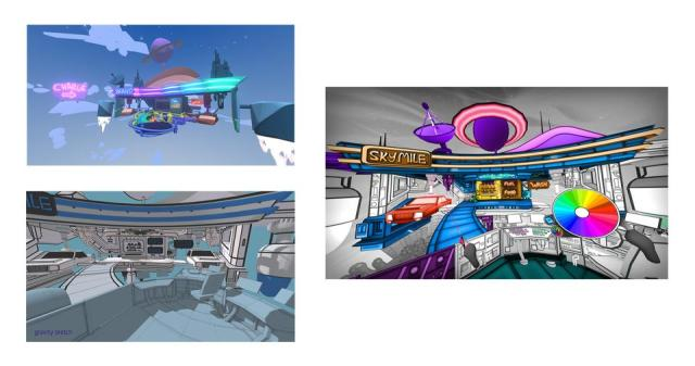 A variety of VR creative tools were used to create Color Space