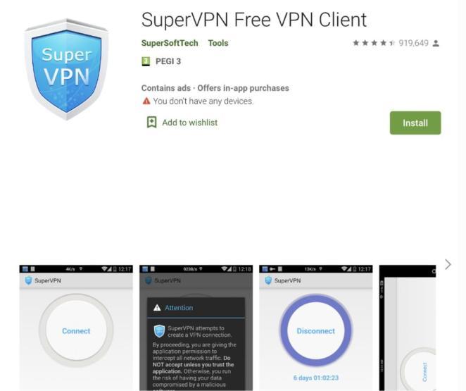 Cem milhões de usuários devem excluir o SuperVPN dos celulares Android