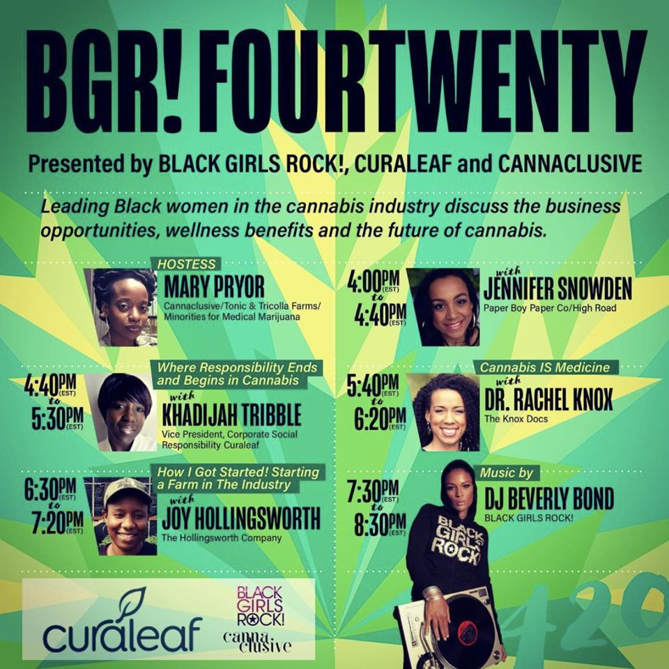 BGR Fourtwenty poster for curaleaf.