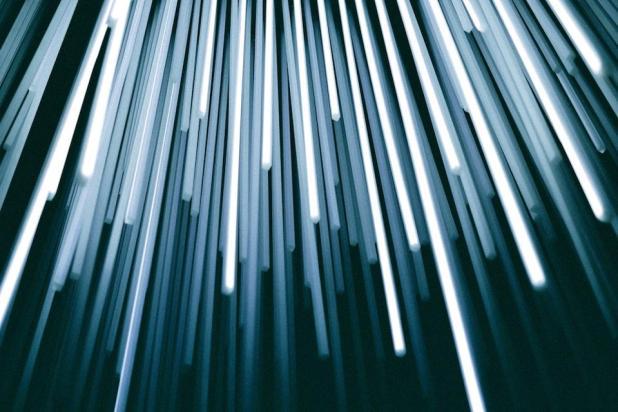 Blockchain: Light representing fiber optic cables